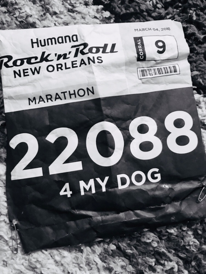 My first race was a marathon